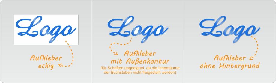 eigenes logo als aufkleber drucken