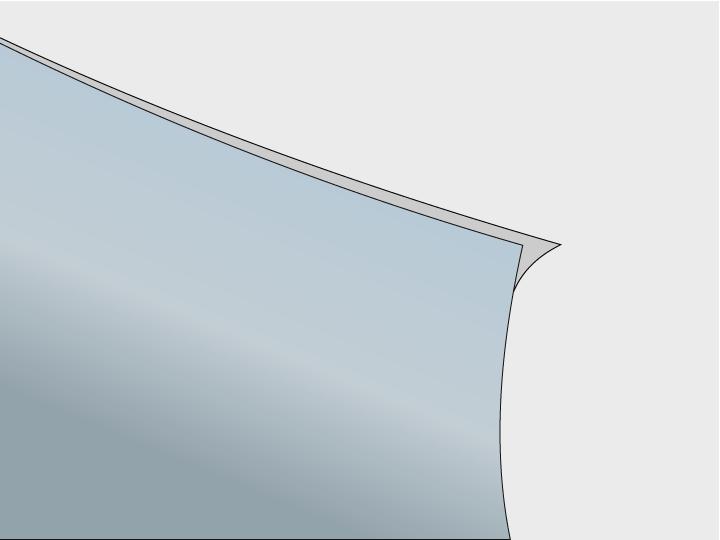 Die Klebefläche der Gebäudeglasfolie ist durch eine dünne transparente Folienschicht (Trägerfolie) geschützt. Diese rückseitige Trägerfolie muss unmittelbar vor der Montage entfernt werden.