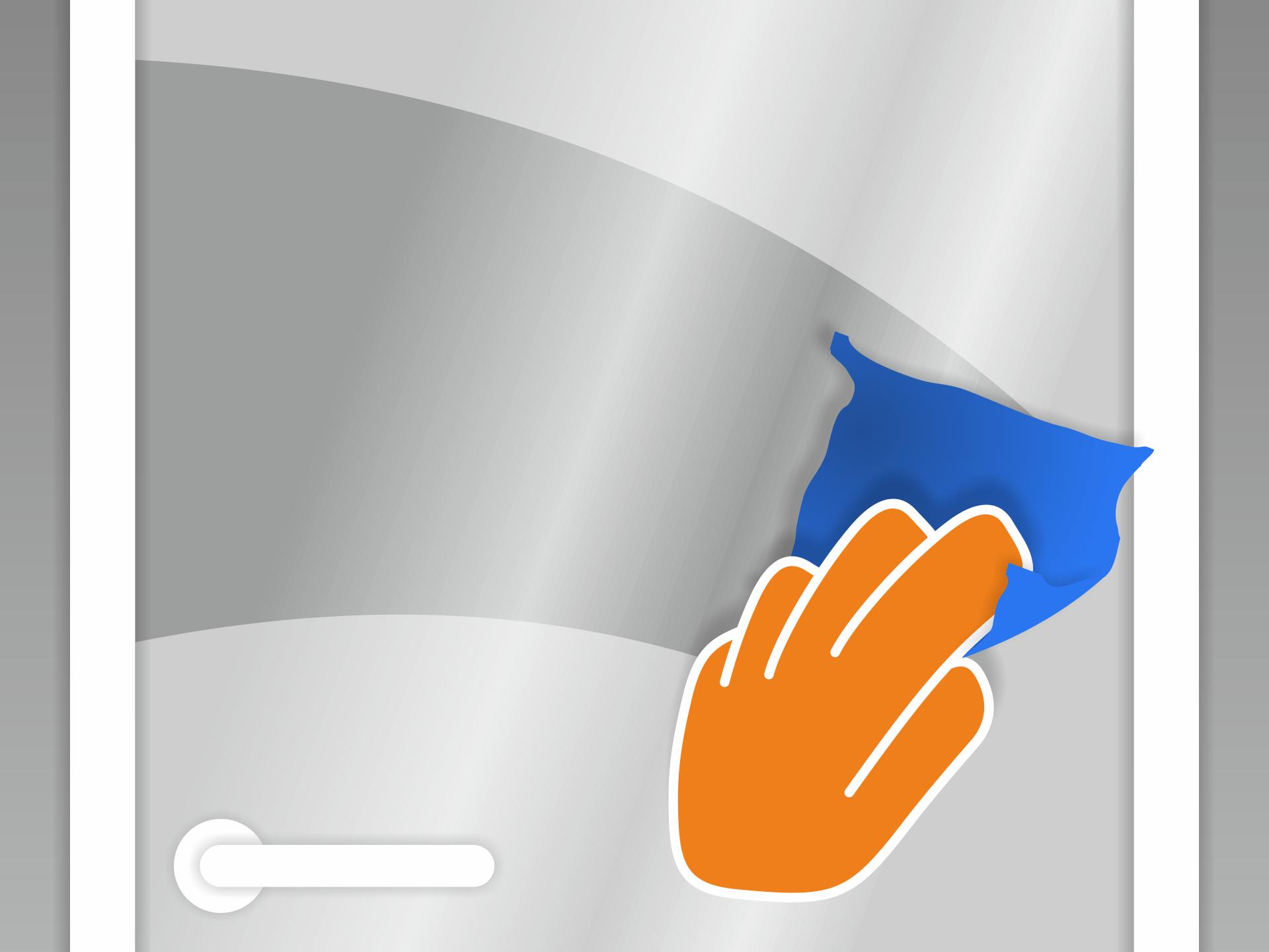 Untergrund (z.B. mit Glasreiniger) gründlich von Staub und Fett befreien.