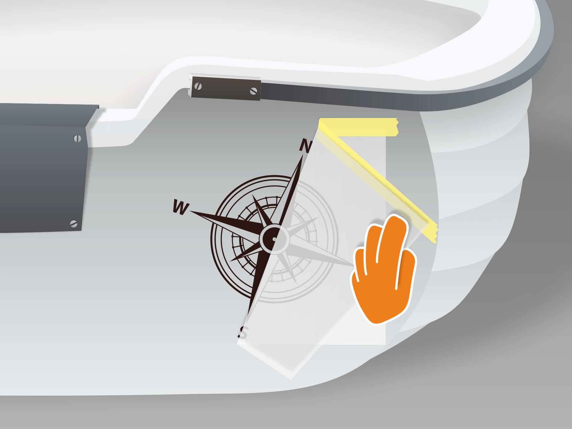 Übertragungsfolie vorsichtig in flachem Winkel abziehen fertig!