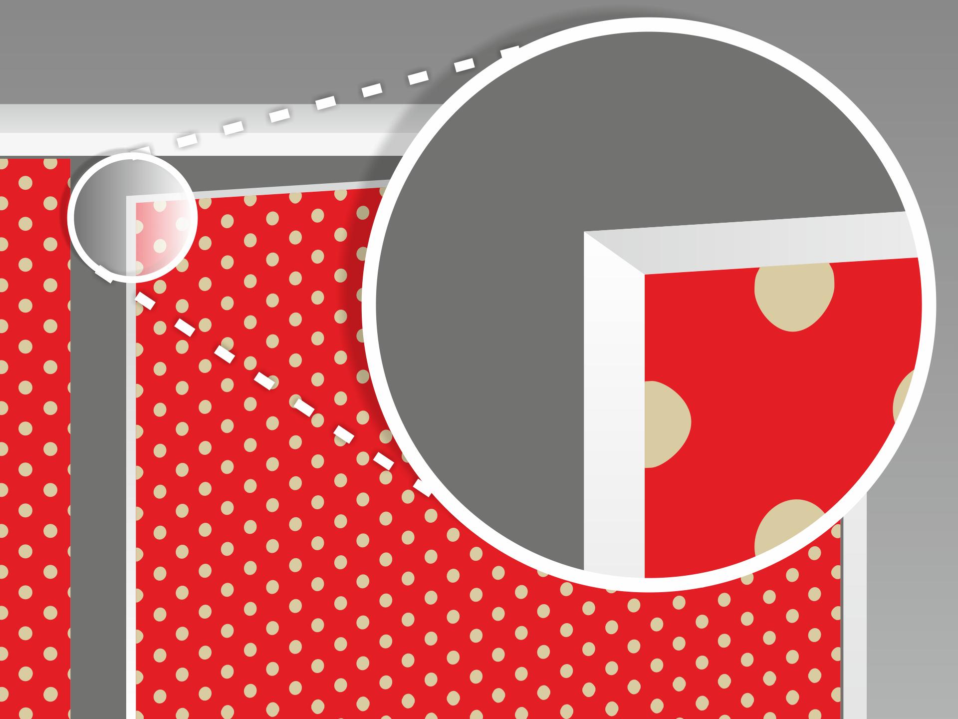 Die überstehende Folie vorsichtig abschneiden. Nutze dabei die Möbelkante oder ein Lineal als Schnittführung für Dein Cutter-Messer. So erhältst Du einen sauberen, geraden Rand.