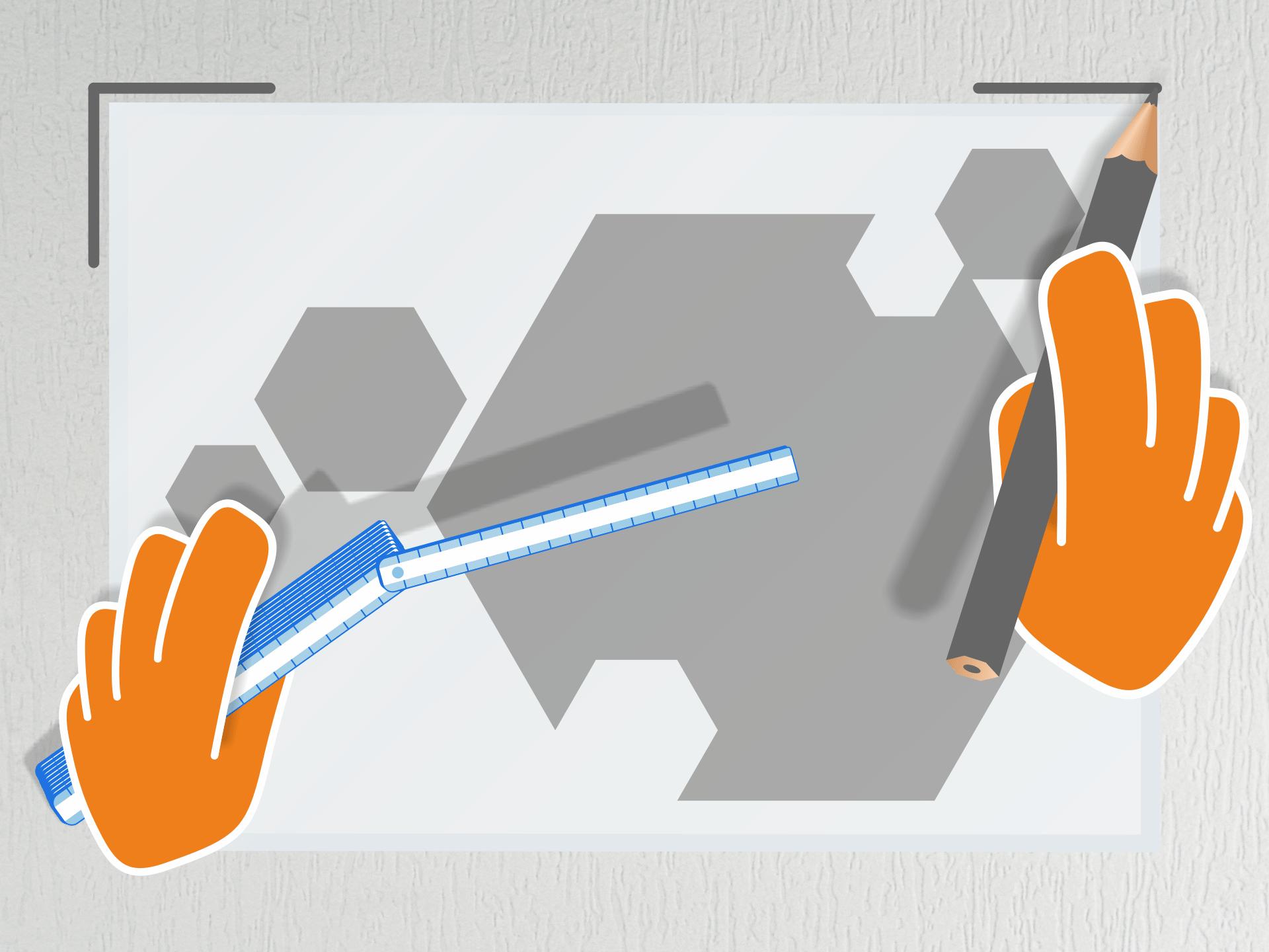 Beim Ausrichten am Motiv orientieren - nicht an der Übertragungsfolie. Anschließend mit dem Bleistift an den Ecken der Übertragungsfolie eine kleine Markierung auf der Wand machen.