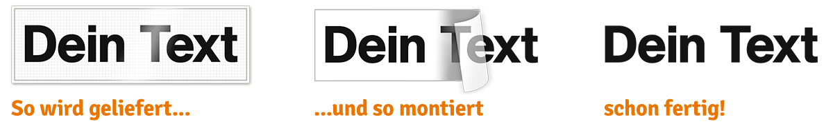Klebebuchstaben / Text - FAQ und Montageanleitung