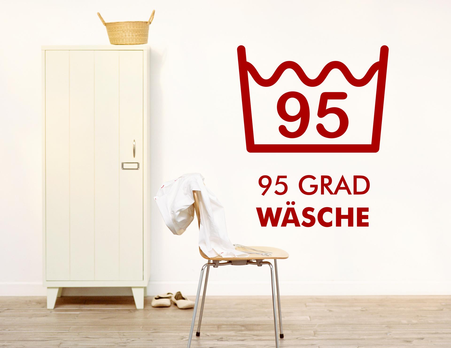 """Wandtattoo """"95 Grad"""" für Waschküche"""