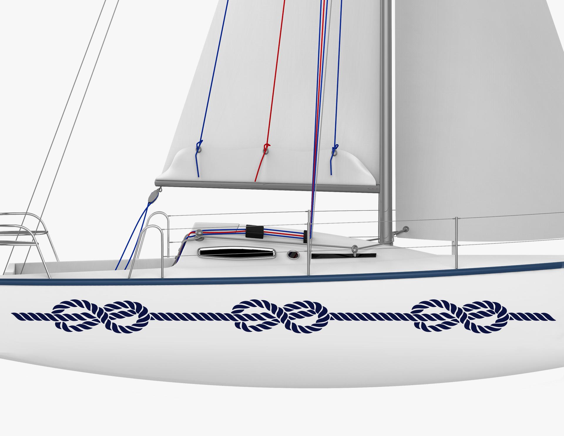 Bootsaufkleber achterknoten set for Bootsaufkleber design