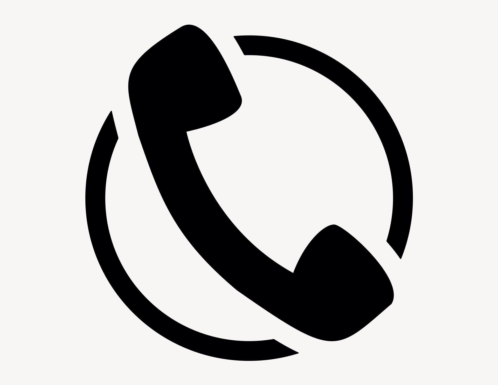 Трубка телефона картинка маленькая