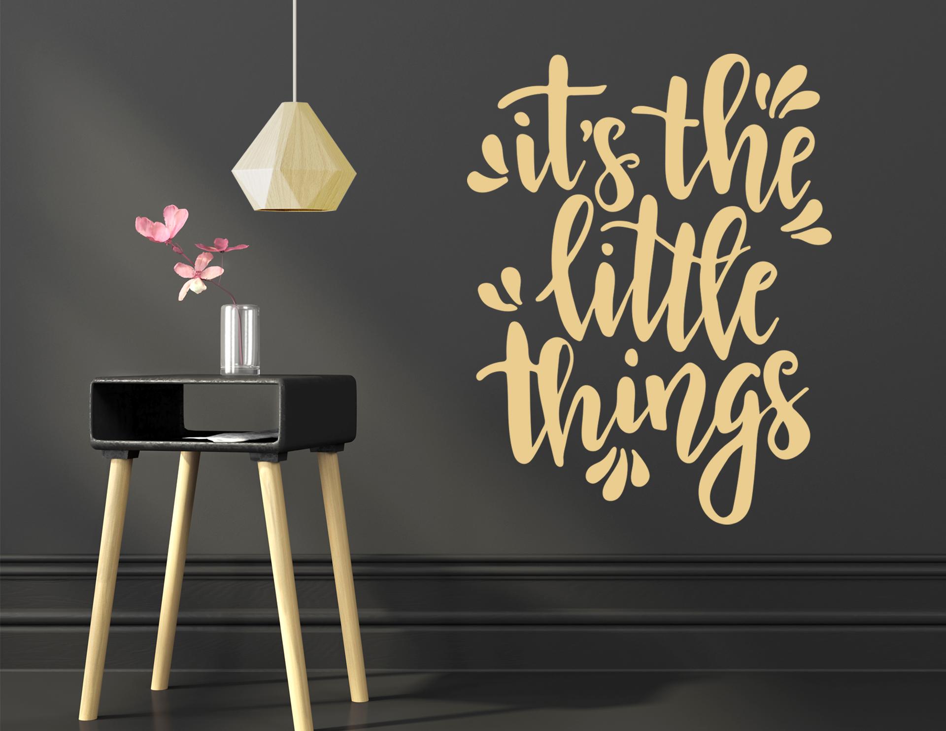 """Wandtattoo """"Little Things"""" findet Glück in kleinen Dingen"""