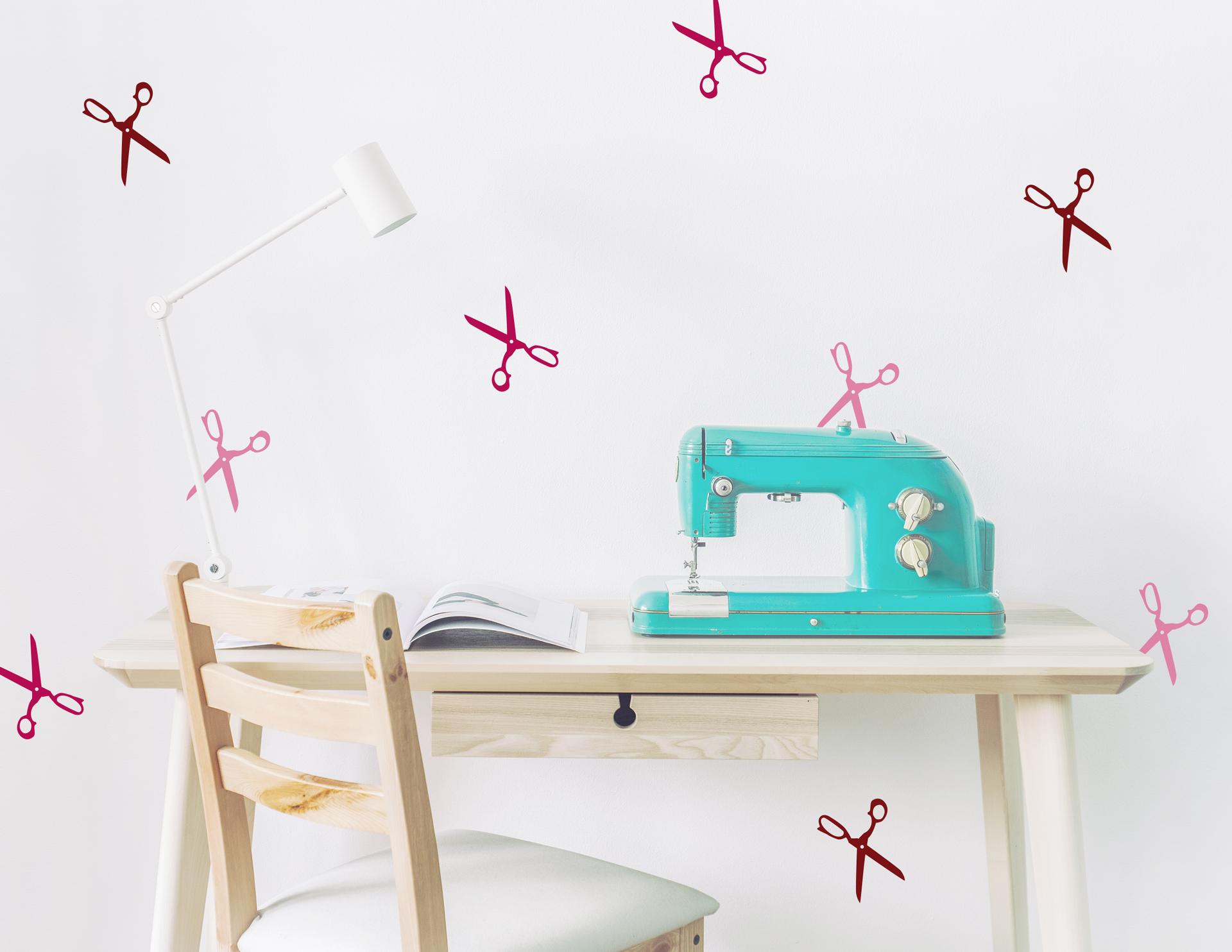 wandtattoo scherenwelt f rs arbeitszimmer. Black Bedroom Furniture Sets. Home Design Ideas