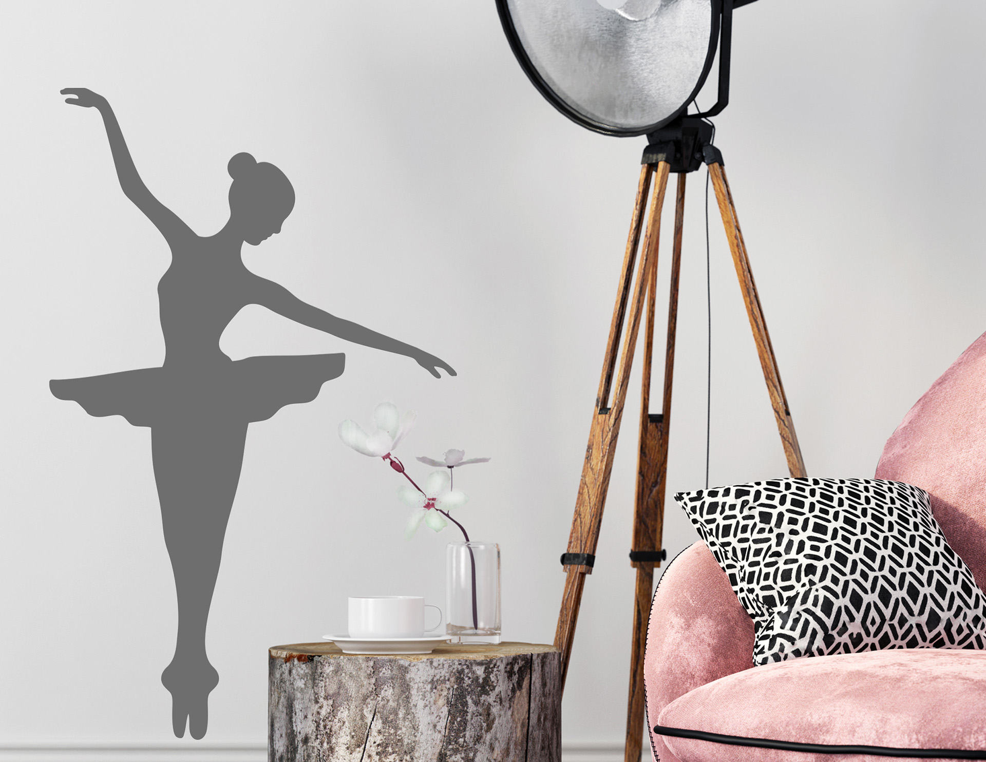 wandtattoo little ballerina pictures to pin on pinterest. Black Bedroom Furniture Sets. Home Design Ideas