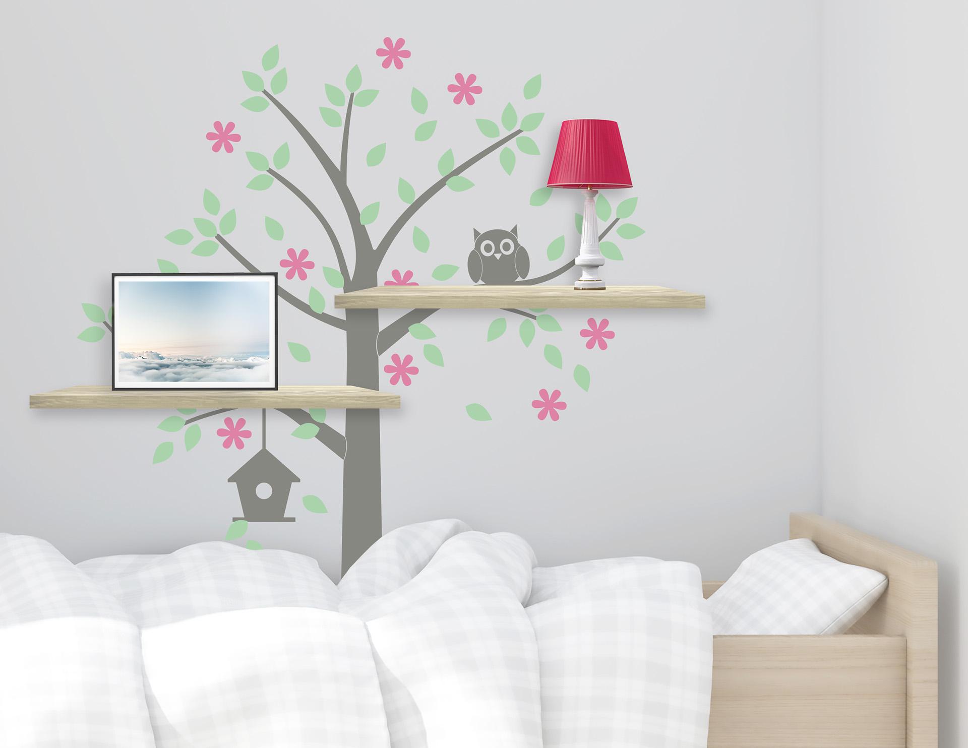 Wandtattoo Baum Mit Eule S Es Motiv F R Das Kinderzimmer - Baum ...