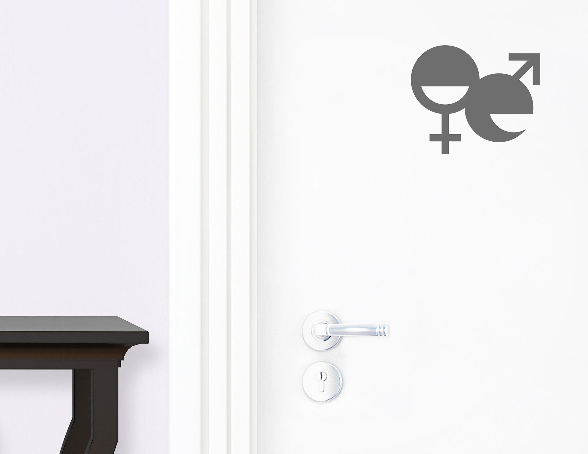gender talk aufkleber f r die t r in bad g stetoilette. Black Bedroom Furniture Sets. Home Design Ideas