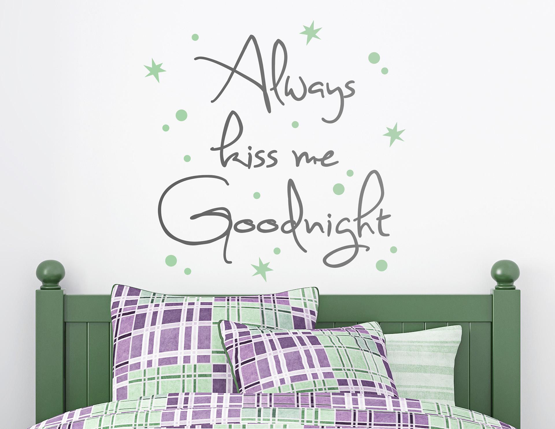 Wandtattoo Goodnight Kiss für süße Nächte.