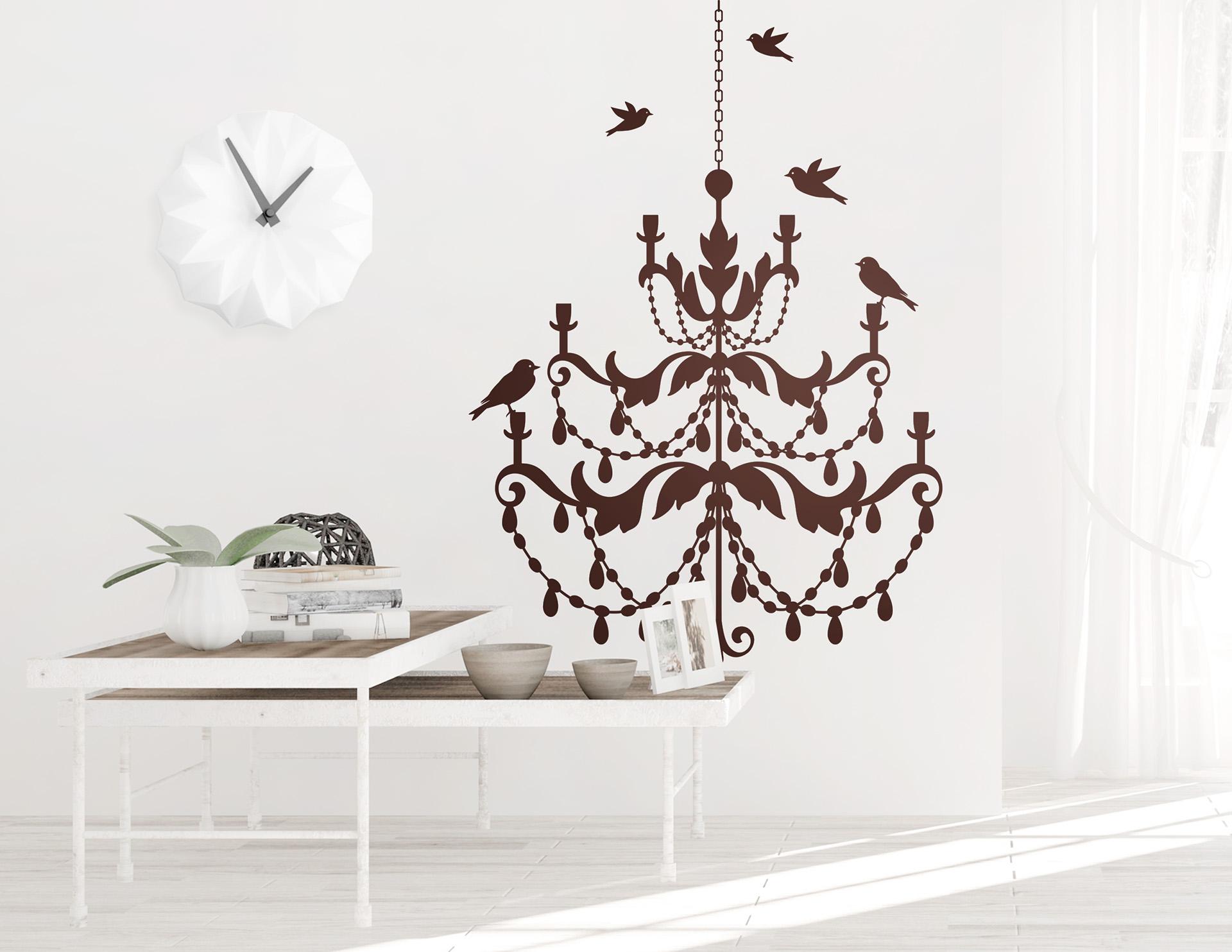 wandtattoo kronleuchter kimberly vereint eleganz und natur. Black Bedroom Furniture Sets. Home Design Ideas