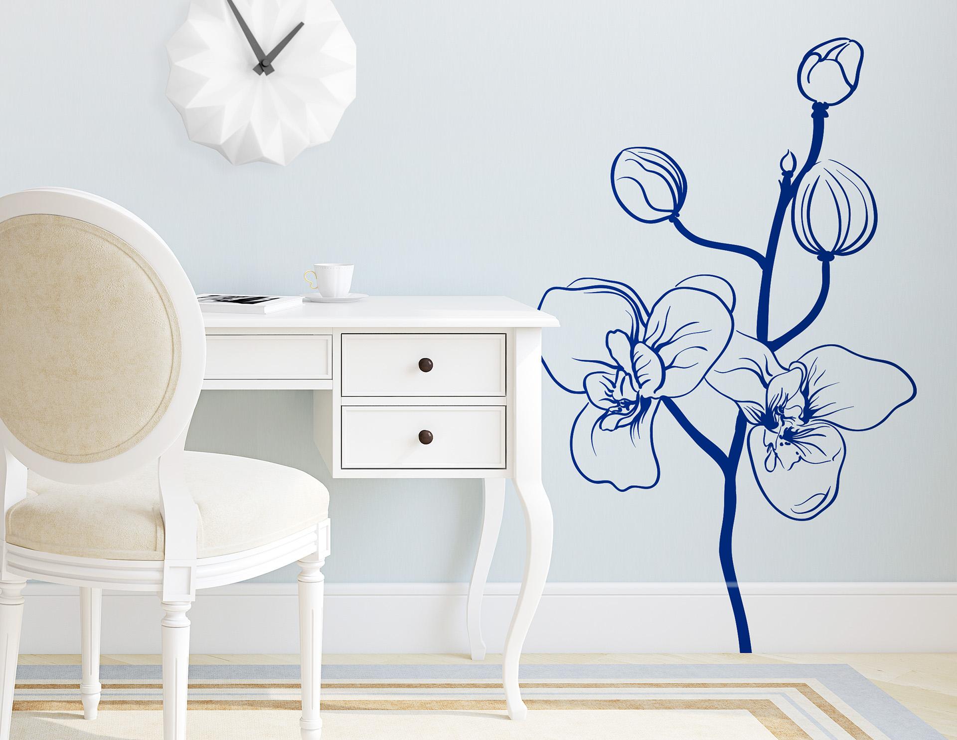 """Wandtattoo """"Orchidee"""" als Symbol für die Liebe"""