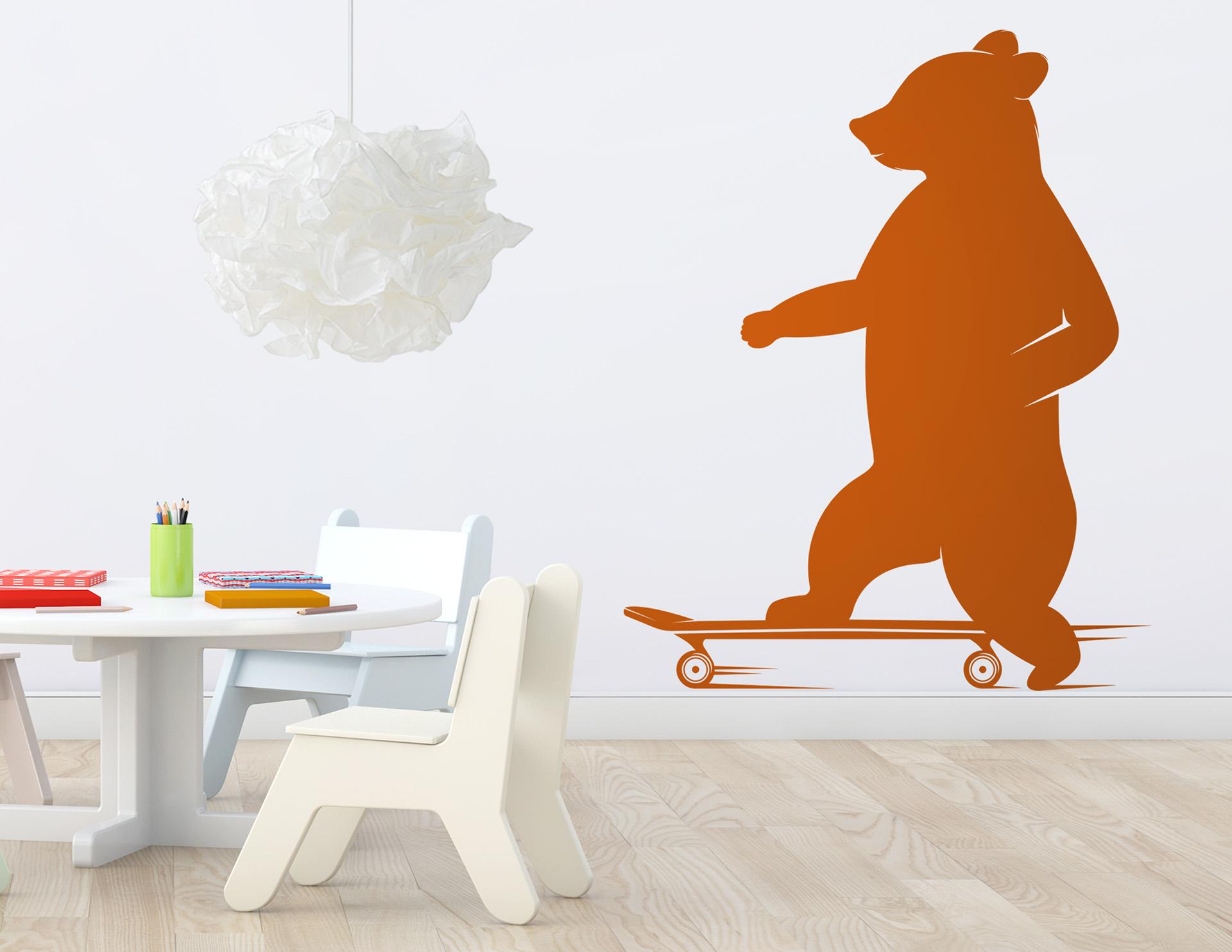 wandtattoo skateboard b r snazzy bringt spa in r ume. Black Bedroom Furniture Sets. Home Design Ideas
