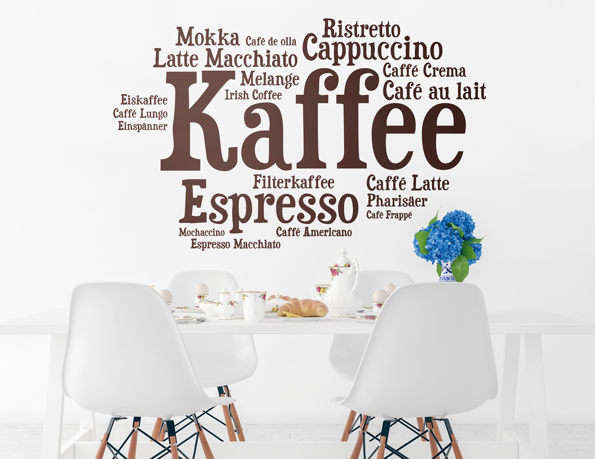 wandtattoo wortwolke kaffee f r kaffeeliebhaber. Black Bedroom Furniture Sets. Home Design Ideas
