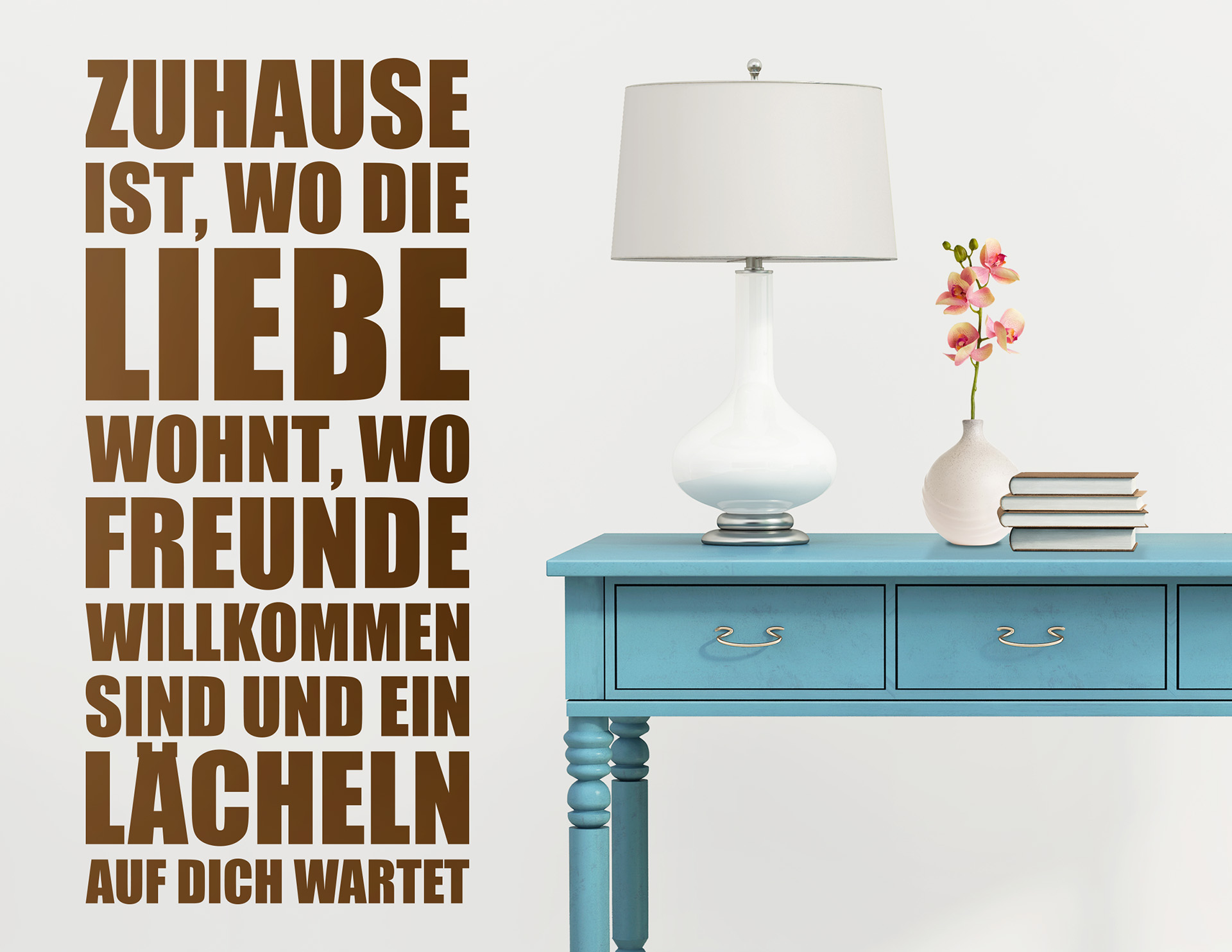 """Wandtattoo """"Zuhause ist Liebe"""" für Optimismus"""
