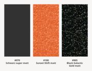 Car Wrapping Effekt-Autofolie matt - Farbübersicht