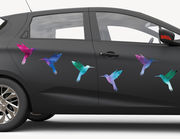 Autoaufkleber Kolibri Watercolor XS