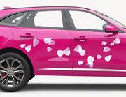 Autoaufkleber Rosa Kirschblütenblätter XS
