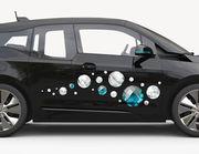 Autoaufkleber Diamanten & Perlen XS