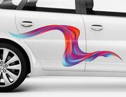 Autoaufkleber Welle Liquid XS