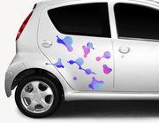 Autoaufkleber Space Bubbles XS