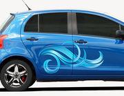 Autoaufkleber Welle Curls XS
