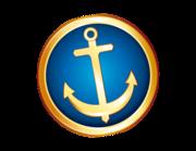 Lieferansicht Autoaufkleber Anker Ocean Gold XS