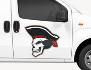 Autoaufkleber Pirat Captain Blackbone XS
