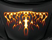 Autoaufkleber Blazing Fire XS