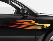 Autoaufkleber Burning Vibes einseitig XS