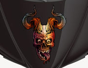 Autoaufkleber Dämonenschädel Ankou XS