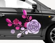 Autoaufkleber Pfingstrose Blütenstern XS