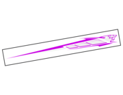 Lieferansicht Autoaufkleber Purple Panther Decal XS