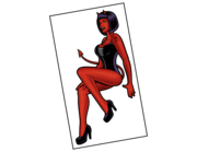 Lieferansicht Autoaufkleber Pin-up Girl Betty Devil XS