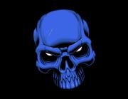 Lieferansicht Autoaufkleber Blue Skull XS