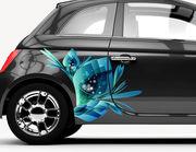 Autoaufkleber Blume Fantasia XS