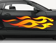 Autoaufkleber Feuer & Flamme XS