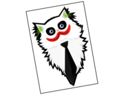 Lieferansicht Autoaufkleber Joker's Cat Juice XS