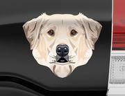 Autoaufkleber Labrador Retriever Maxwell XS