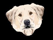 Lieferansicht Autoaufkleber Labrador Retriever Maxwell XS