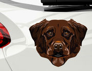 Autoaufkleber Labrador Harrison Brown XS