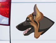 Autoaufkleber Schäferhund Jax XS