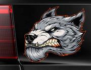 Autoaufkleber Immortal Werewolf Head XS