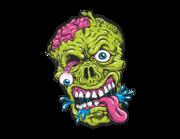 Lieferansicht Autoaufkleber Green Zombie Head XS