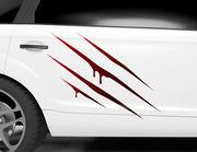 Autoaufkleber Bloody Claw Marks XS