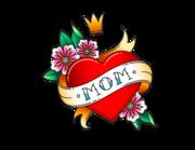 Lieferansicht Autoaufkleber Mom Heart XS