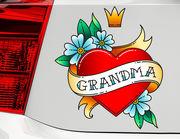Autoaufkleber Grandma Heart XS