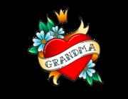Lieferansicht Autoaufkleber Grandma Heart XS